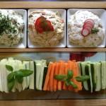 Dipp-Crèmes mit Gemüse